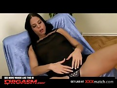 Busty Amateur Slides Big Vibrator Into Cunt
