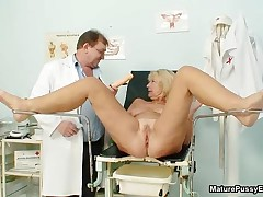 Horny Mature Mom Gets An Orgasm From Her Horny Old Doctor By MaturePussyExams
