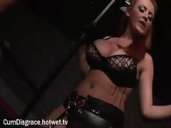A Blonde Cum Slut Thoroughly Enjoys Herself At A Wild Bondage Sex Party
