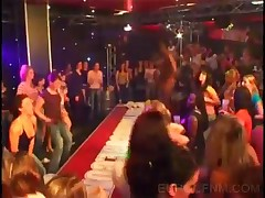 Black Stripper Shows Huge Cock At CFNM Party