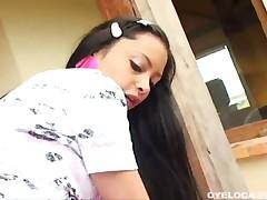 Tami Fabiana - Petite Latina Fucked Hard In The Balcony