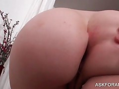Nasty Redhead Shows Sexy Bottom In Close Up