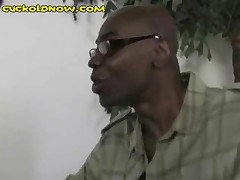 His Wife Deals With The Black Guy By Sucking