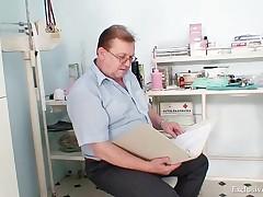 Karolina - Hot Blond Babe Vagina Examination And Enema