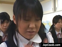 Pigtailed Japanese Coeds Gets Humiliated In Class