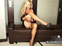 Rachel Aziani - Rachel Aziani With Her Big Tits Showing Of Her Sexy Feet In Stocknigs By AzianiRache