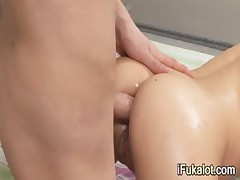 after bath penetrating tight anal