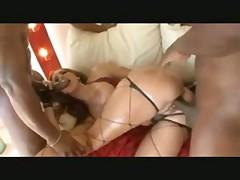 Kelly Divine double penetration interracial