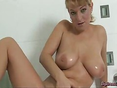 Big Breasts Babe Shaving Pussy And Squizing Hard Tits