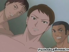 Natsumi Takes Three Hard Cocks