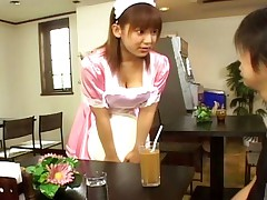 Eri Yukawa Gives a blow and tit job