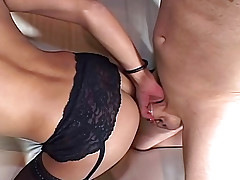 Dude Gives All His Power Fuckign This Cute Horny Shemale