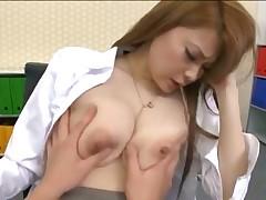 Japanese office lady make porn