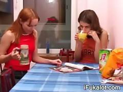 stunning brunette pissing on toilet