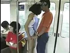 Asian Cutie In Train