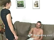 Party Girlfriend Gets A Hard Spanking