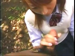 japanese pissing and sucking in a public park