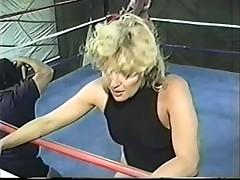 female wrestling Sally vs Charlie