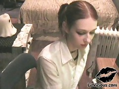 Liz Vicious - Bookworm young teen sucks dick and fucks