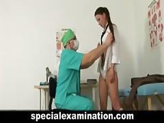 Schoolgirl's medical examination