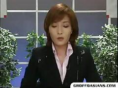 Newscaster's Bukkake