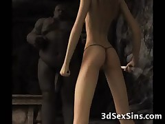 Ogres Jizz On 3D Babes!