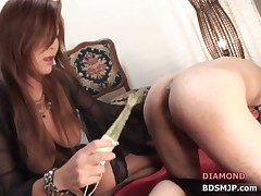 Pegging femdom strap-on domination spanking