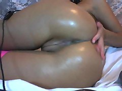 Anal fingering on webcam