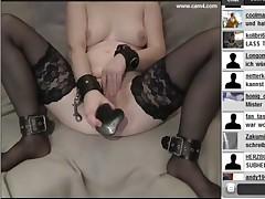 German hubby showing his wife on webcam