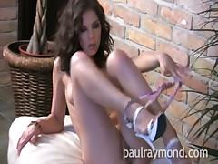 Hot Brunette Henessy rams dildo and cums hard - Paul Raymond
