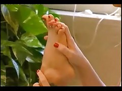 Hot Foot Fetish Licking Between Two Lesbians