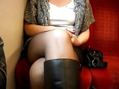 Girlfriend on train