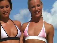 Bikini Clad Lesbians Get Naughty Poolside