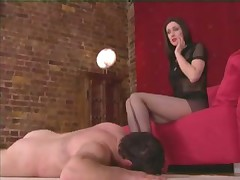 Femdom with leg action