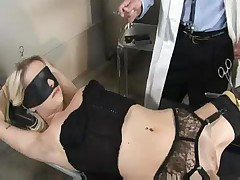 Blonde at gyno doctor