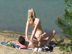 Couple sex outdoor