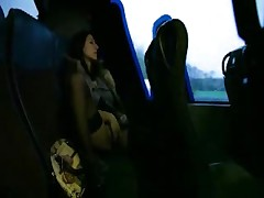 Masturbation in the back of a bus