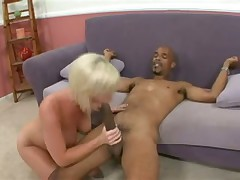Horny natural boobs blonde and big cock get it on