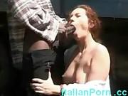 White housewife takes a big black cock