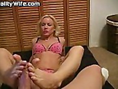 Reality Wife - Footjob Cum Taste