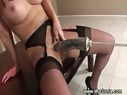 Mature slut uses a massage toy