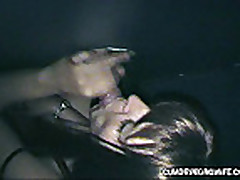 Slutwife fucks with strangers in Adult Theater