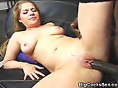 No Sound: Big Cock Interracial Action