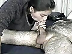 Fabiola eating cum my very hairy hubby