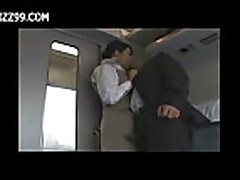 Mosaic: sexy train waitress fucked with passenger
