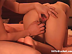Asian wife gets a big creampie