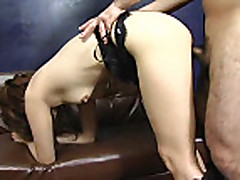 Pretty sexy japanese chick gets creampie
