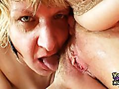 Amateur grannies kinky lesbian pussy games