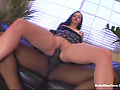 Young bitch ride a huge black dick