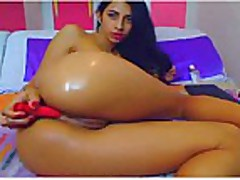 Cam; Latina anal masturbate